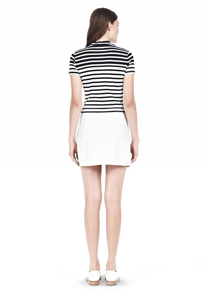 T by ALEXANDER WANG LIGHTWEIGHT A-LINE LEATHER SKIRT Skirt Adult 12_n_r