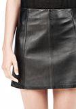 T by ALEXANDER WANG LIGHTWEIGHT A-LINE LEATHER SKIRT Skirt Adult 8_n_a