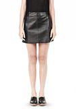 T by ALEXANDER WANG LIGHTWEIGHT A-LINE LEATHER SKIRT Skirt/DEL Adult 8_n_e