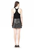 T by ALEXANDER WANG LIGHTWEIGHT A-LINE LEATHER SKIRT Skirt/DEL Adult 8_n_r