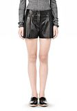 ALEXANDER WANG BLOOMER PLEATED LEATHER SHORTS SHORTS Adult 8_n_d
