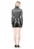 ALEXANDER WANG BLOOMER PLEATED LEATHER SHORTS SHORTS Adult 8_n_r
