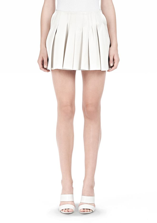 ALEXANDER WANG PLEATED LEATHER SKIRT SKIRT Adult 12_n_d