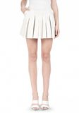 ALEXANDER WANG PLEATED LEATHER SKIRT SKIRT Adult 8_n_e