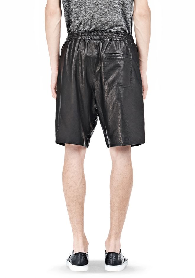T by ALEXANDER WANG WASHED LEATHER SHORTS SHORTS Adult 12_n_d