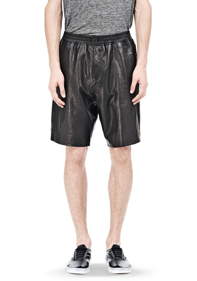T by ALEXANDER WANG WASHED LEATHER SHORTS SHORTS Adult 12_n_e