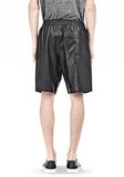 T by ALEXANDER WANG WASHED LEATHER SHORTS SHORTS Adult 8_n_d