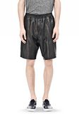 T by ALEXANDER WANG WASHED LEATHER SHORTS SHORTS Adult 8_n_e
