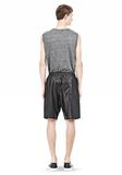 T by ALEXANDER WANG WASHED LEATHER SHORTS SHORTS Adult 8_n_r