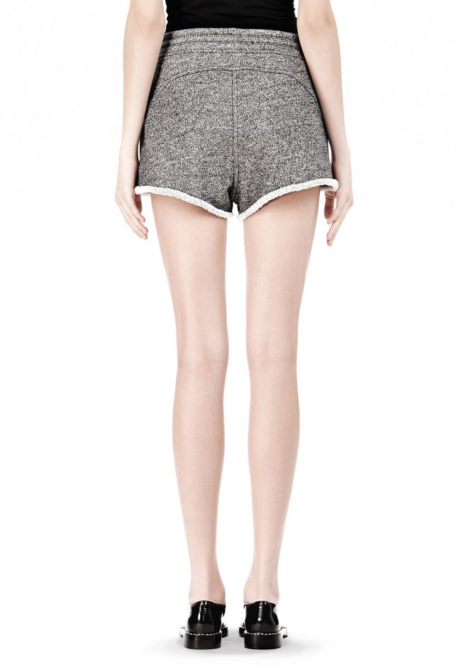 T by ALEXANDER WANG  FRENCH TERRY SHORTS WITH DRAWSTRING SHORTS Adult 12_n_a