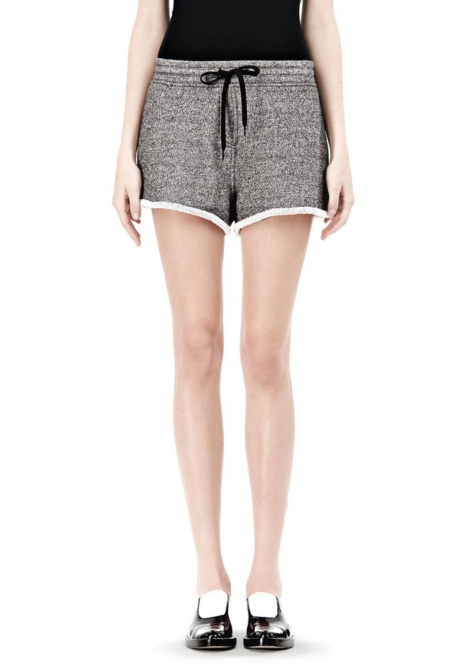 T by ALEXANDER WANG  FRENCH TERRY SHORTS WITH DRAWSTRING SHORTS Adult 12_n_d