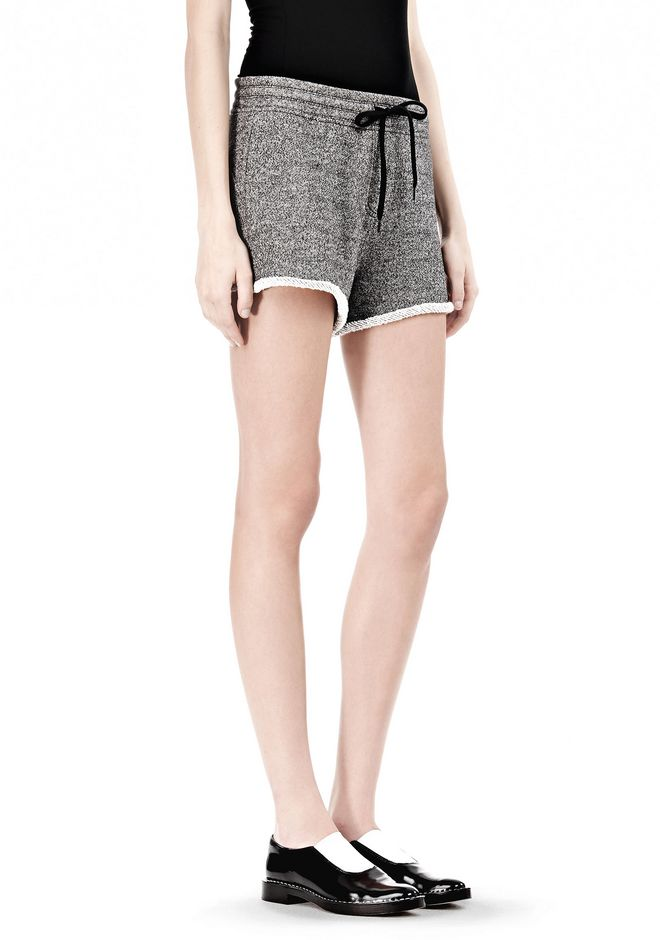 T by ALEXANDER WANG  FRENCH TERRY SHORTS WITH DRAWSTRING SHORTS Adult 12_n_e