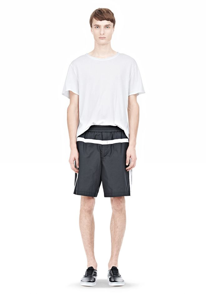 T by ALEXANDER WANG SWIM NYLON GRID PANEL TRUNKS SHORTS Adult 12_n_f