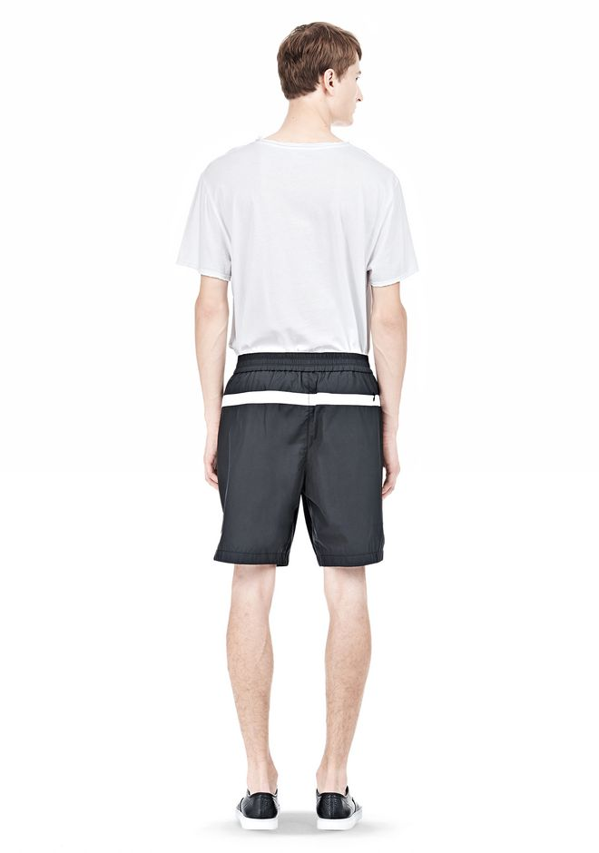 T by ALEXANDER WANG SWIM NYLON GRID PANEL TRUNKS SHORTS Adult 12_n_r