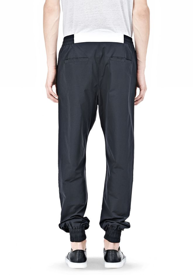 T by ALEXANDER WANG LIGHTWEIGHT NYLON TRACK PANTS PANTS Adult 12_n_a