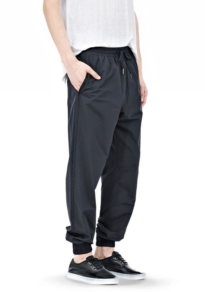 T by ALEXANDER WANG LIGHTWEIGHT NYLON TRACK PANTS PANTS Adult 12_n_e