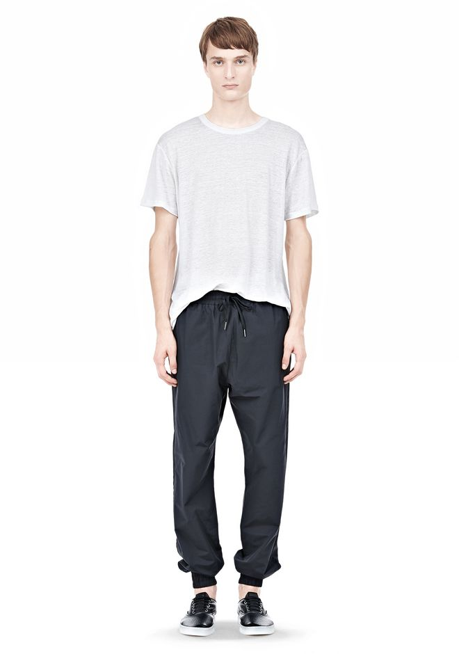 T by ALEXANDER WANG LIGHTWEIGHT NYLON TRACK PANTS PANTS Adult 12_n_f