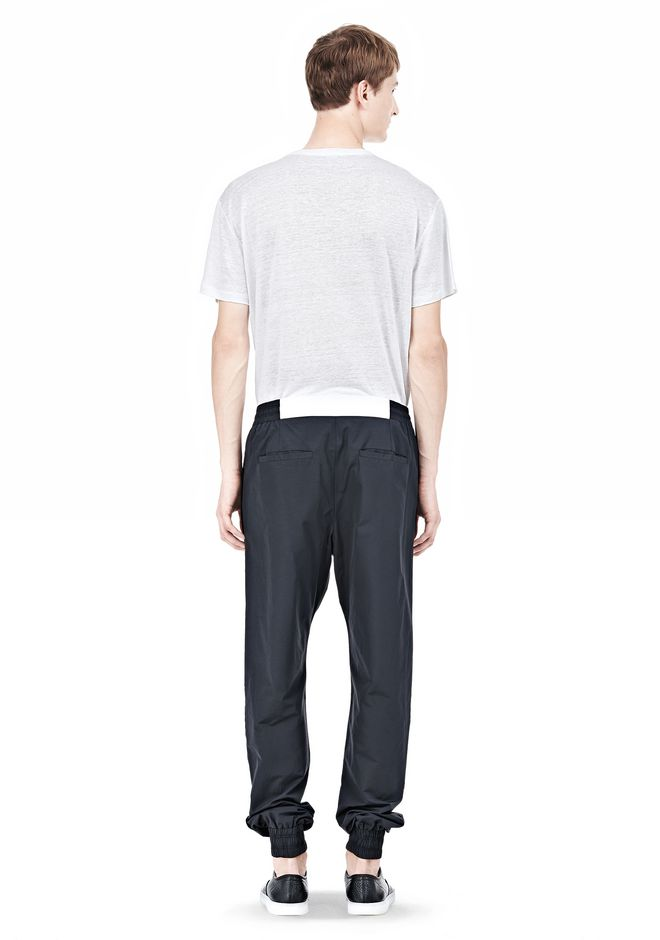 T by ALEXANDER WANG LIGHTWEIGHT NYLON TRACK PANTS PANTS Adult 12_n_r