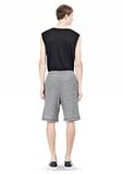 T by ALEXANDER WANG SPECKLED FRENCH TERRY SHORTS SHORTS Adult 8_n_r