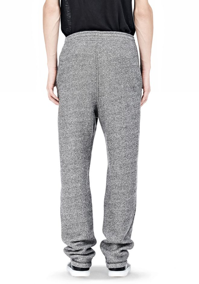 T by ALEXANDER WANG SPECKLED FRENCH TERRY SWEATPANTS PANTS Adult 12_n_a