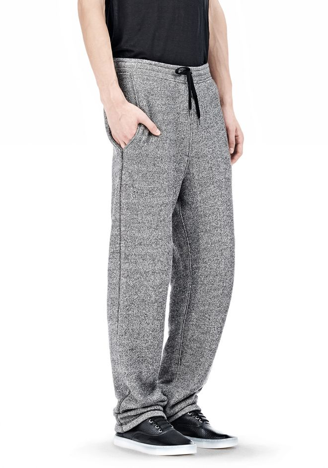 T by ALEXANDER WANG SPECKLED FRENCH TERRY SWEATPANTS PANTS Adult 12_n_e
