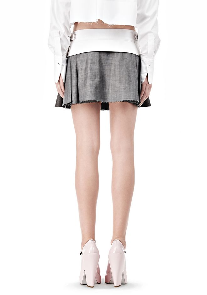 ALEXANDER WANG IRREGULAR PLEAT SKIRT SKIRT Adult 12_n_a