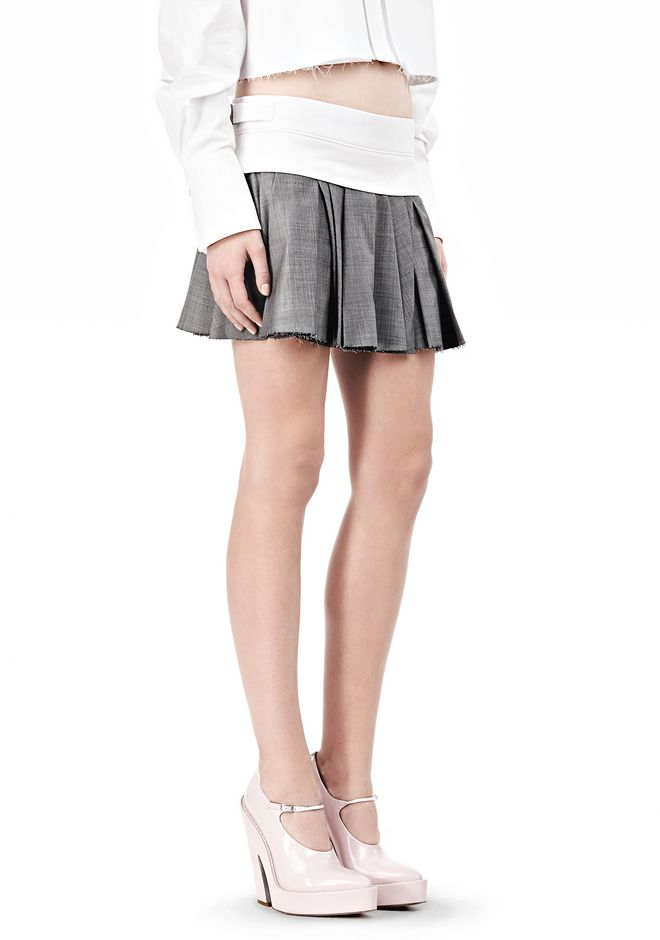 ALEXANDER WANG IRREGULAR PLEAT SKIRT SKIRT Adult 12_n_e