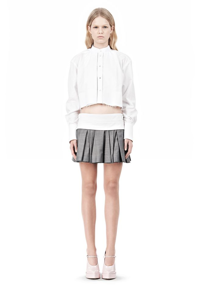 ALEXANDER WANG IRREGULAR PLEAT SKIRT SKIRT Adult 12_n_f
