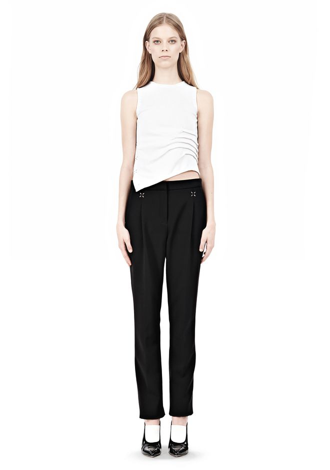 ALEXANDER WANG LOW WAISTED TROUSER PANTS Adult 12_n_f