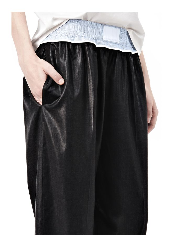 ALEXANDER WANG TRACK PANT WITH BOXER SHORT WAISTBAND PANTS Adult 12_n_a
