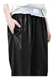 ALEXANDER WANG TRACK PANT WITH BOXER SHORT WAISTBAND PANTS Adult 8_n_a