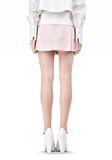 ALEXANDER WANG IRREGULAR PLEAT SKIRT SKIRT Adult 8_n_a