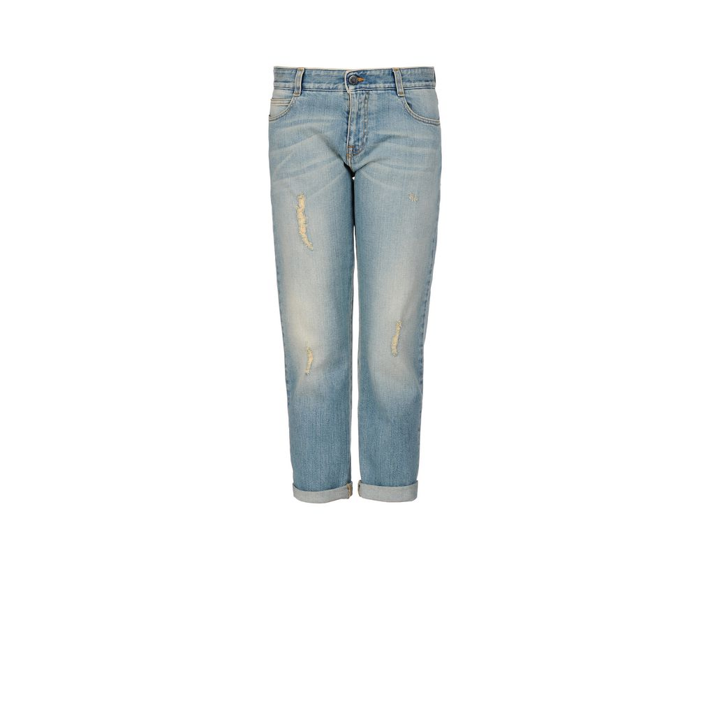 Tomboy-Jeans aus Bio-Denim - STELLA MCCARTNEY