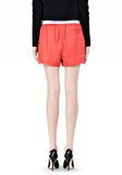 T by ALEXANDER WANG LEATHER SHORTS WITH ELASTIC WAISTBAND SHORTS Adult 8_n_a