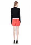 T by ALEXANDER WANG LEATHER SHORTS WITH ELASTIC WAISTBAND SHORTS Adult 8_n_r