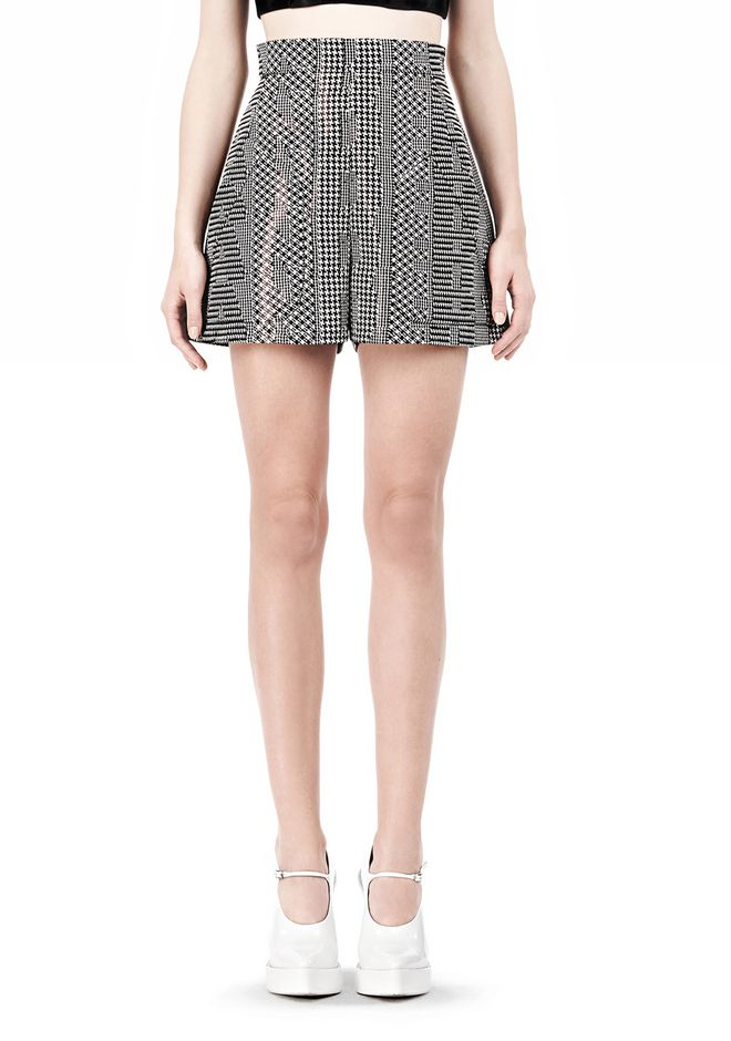 ALEXANDER WANG A-LINE SHORT WITH SEAMED IN POCKET SHORTS Adult 12_n_d