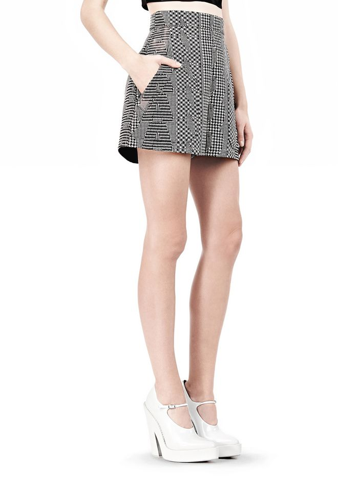 ALEXANDER WANG A-LINE SHORT WITH SEAMED IN POCKET SHORTS Adult 12_n_e
