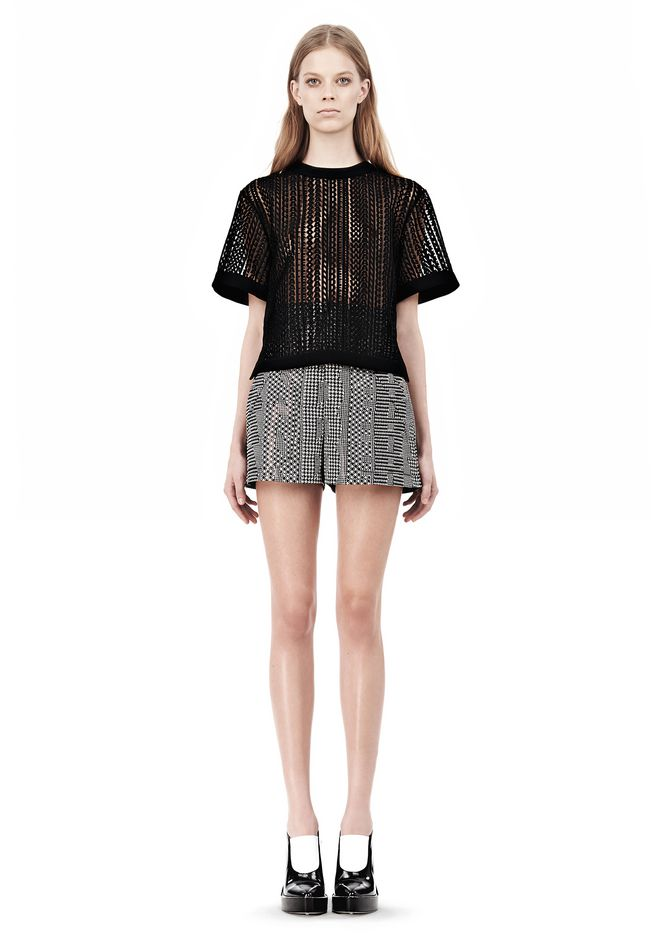 ALEXANDER WANG A-LINE SHORT WITH SEAMED IN POCKET SHORTS Adult 12_n_f