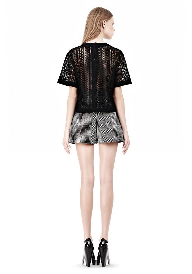 ALEXANDER WANG A-LINE SHORT WITH SEAMED IN POCKET SHORTS Adult 12_n_r