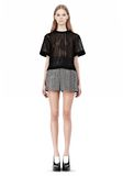ALEXANDER WANG A-LINE SHORT WITH SEAMED IN POCKET SHORTS Adult 8_n_f