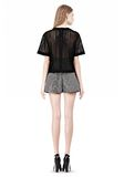 ALEXANDER WANG A-LINE SHORT WITH SEAMED IN POCKET SHORTS Adult 8_n_r