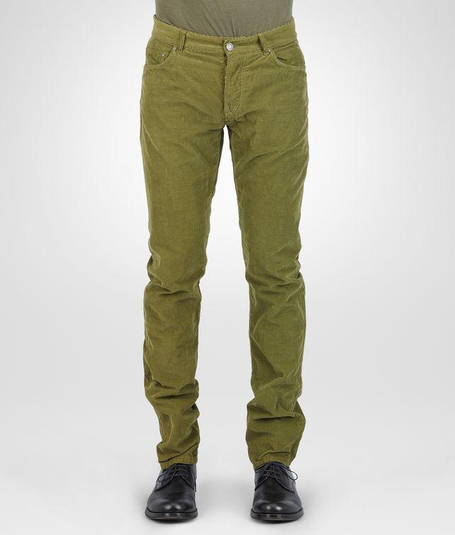 BOTTEGA VENETA HOSE AUS SOMMER-SAMTCORD NEW ARMY Hose & Jeans U fp