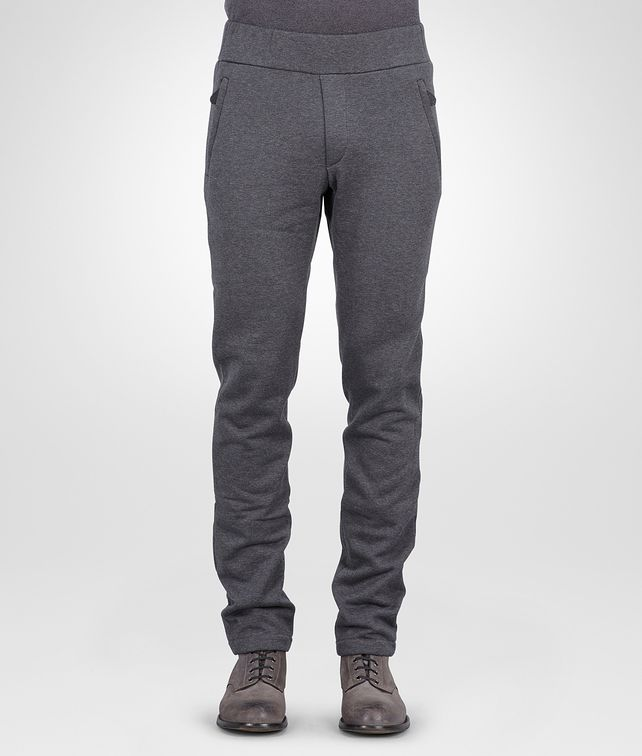 BOTTEGA VENETA New Dark Grey Melange Organic Cotton Wool Jersey Pant Jeans or Pant U fp