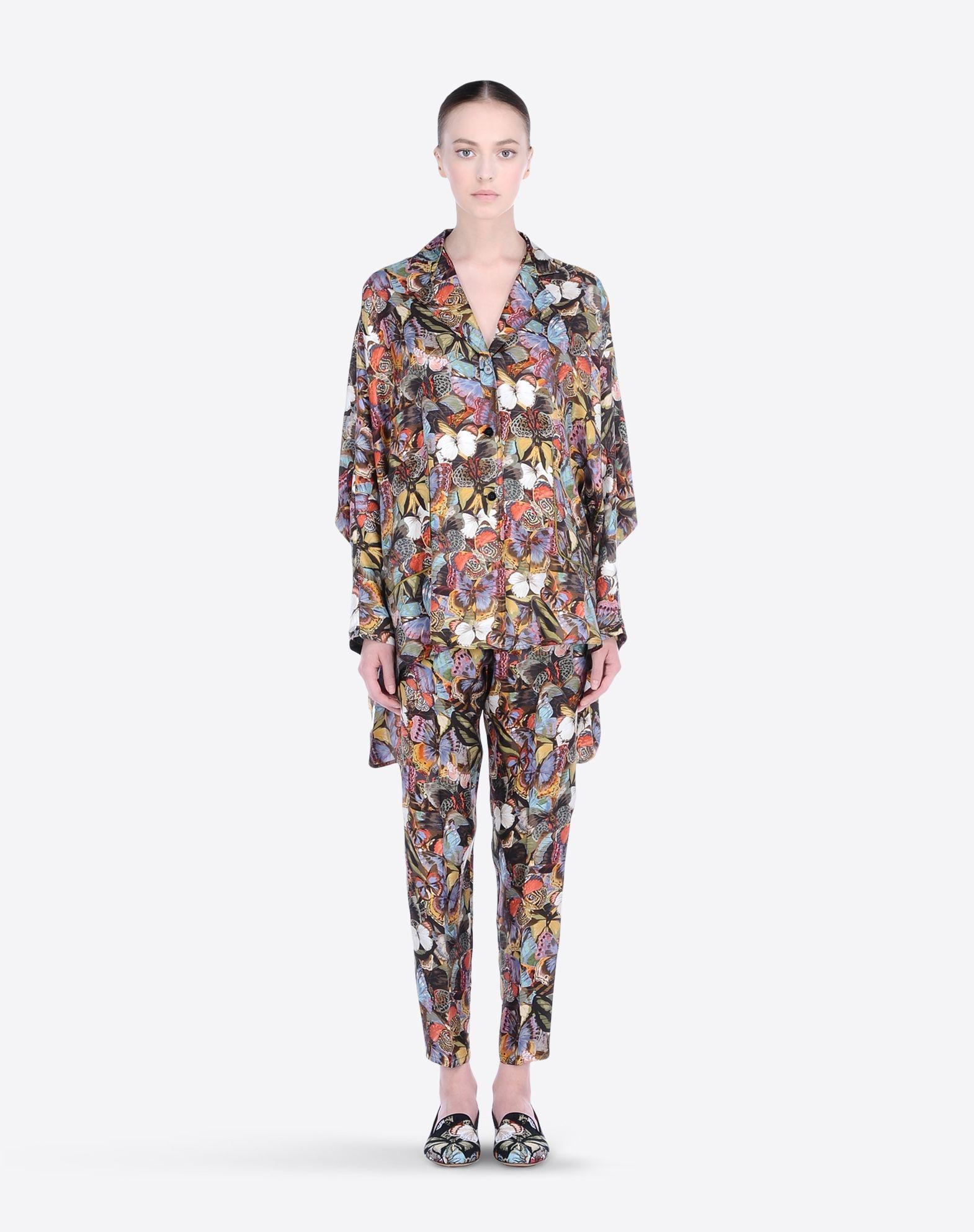 VALENTINO Drawstring closure Cotton twill Multicolor Pattern High waisted Three pockets  36552638xd