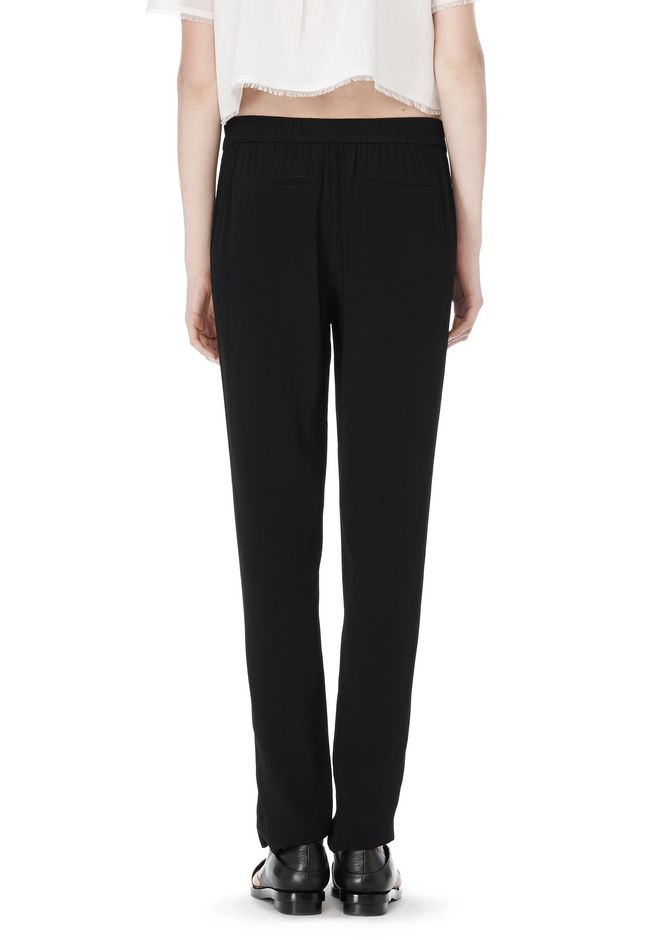 T by ALEXANDER WANG VISCOSE CREPE TRACK PANTS PANTS Adult 12_n_a