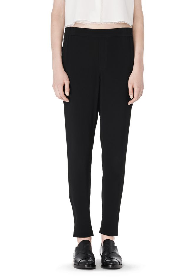 T by ALEXANDER WANG VISCOSE CREPE TRACK PANTS PANTS Adult 12_n_d