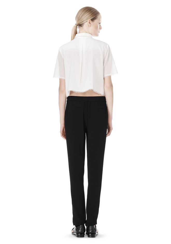 T by ALEXANDER WANG VISCOSE CREPE TRACK PANTS PANTS Adult 12_n_r