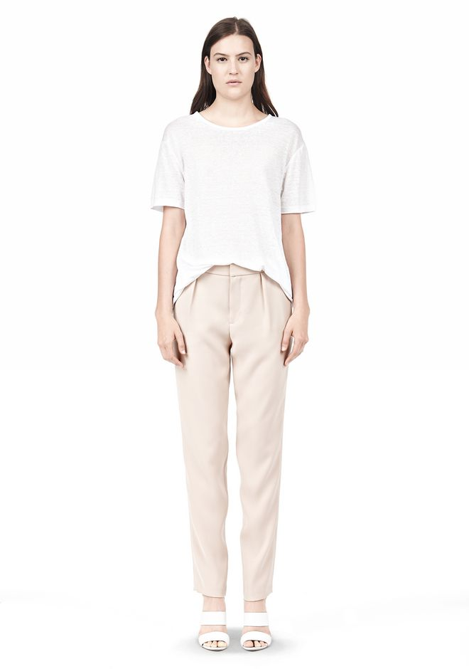 T by ALEXANDER WANG DRAPE SUITING TAPPERED TROUSERS PANTS Adult 12_n_f