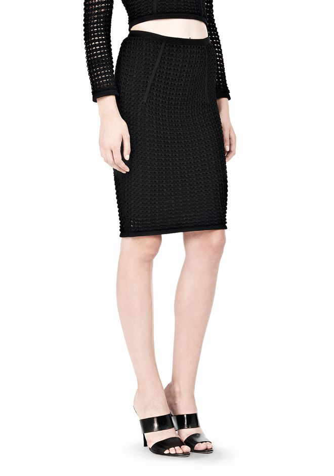 ALEXANDER WANG FITTED CROCHET PENCIL SKIRT SKIRT Adult 12_n_e