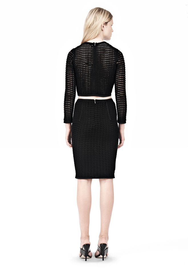 ALEXANDER WANG FITTED CROCHET PENCIL SKIRT SKIRT Adult 12_n_r